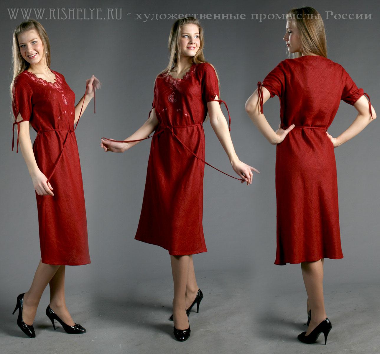 """Льняное платье """"Фиделия"""" lacywear gk4015 3169"""
