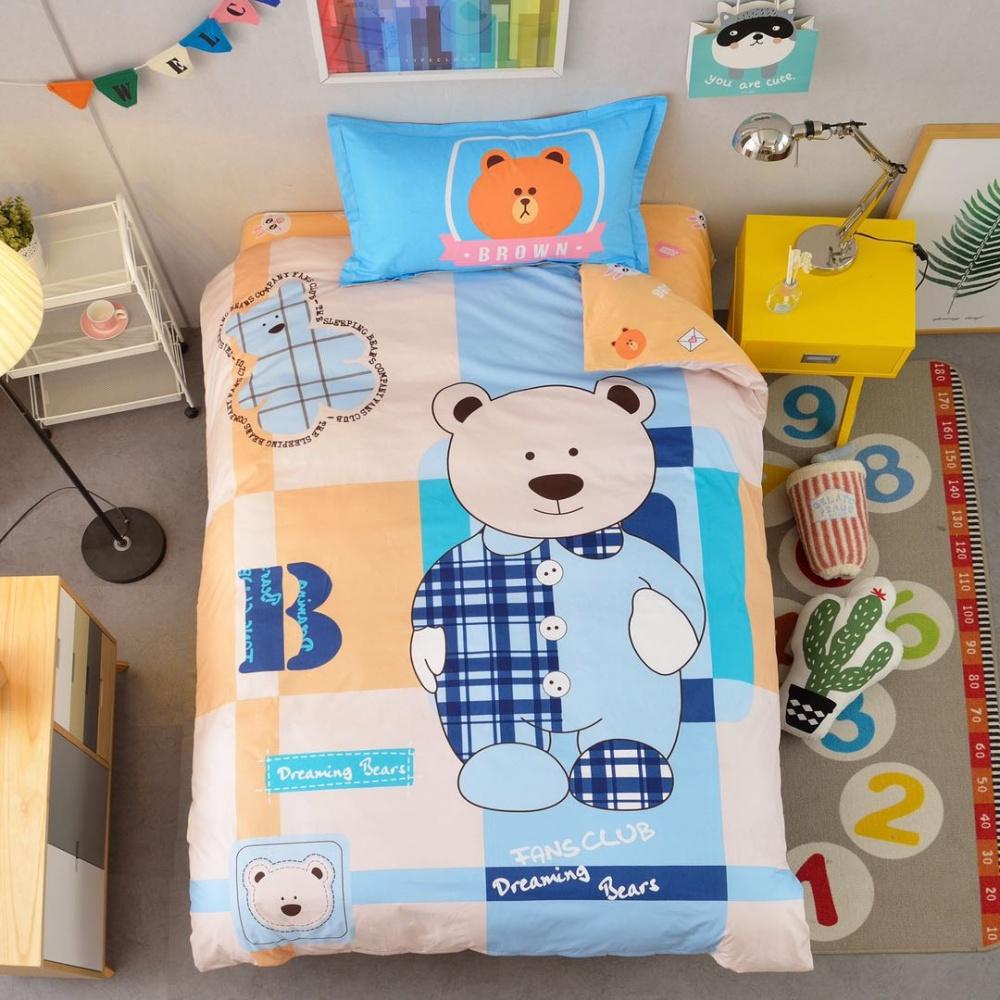 Постельное белье Мишутка (сатин) (1,5 спальный) постельное белье cleo кпб сатин набивной люкс дизайн 406 1 5 спальный