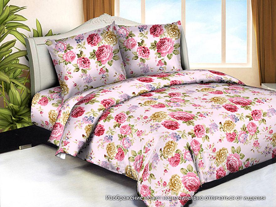 Постельное белье Цветы (жатка) (2 спальный)