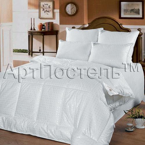 """Одеяло зимнее """"Анжела"""" (лебяжий пух, тик) 2 спальный (172*205)"""