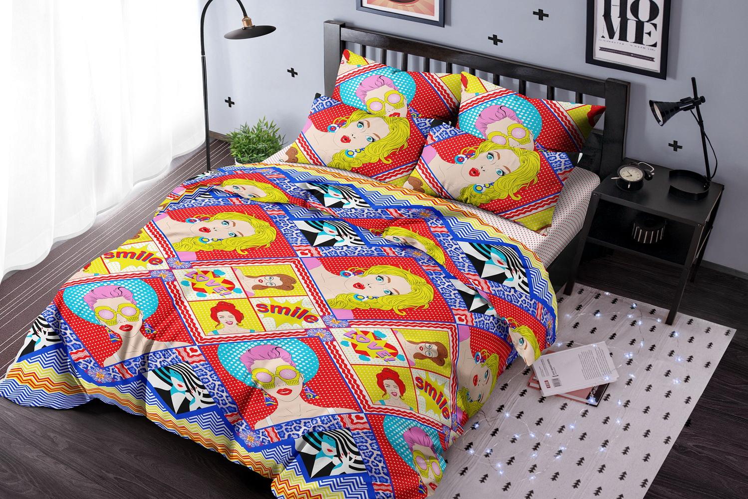 Фото - Постельное белье iv72756 (поплин) (1,5 спальный) постельное белье iv76089 поплин 1 5 спальный