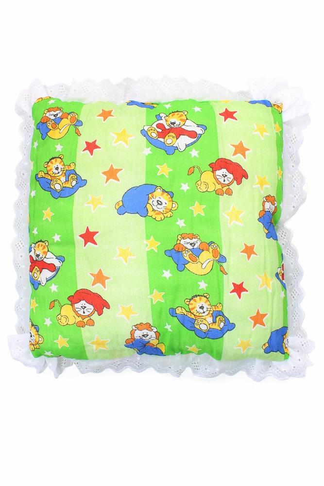 Подушка детская с кружевом Зайчик (бязь) (40*40) lavera 40