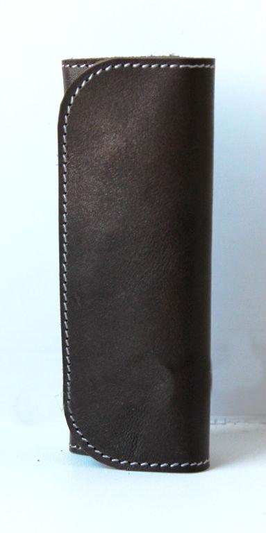 """Ключница кожаная """"4 ключа"""" (коричневая) от Грандсток"""