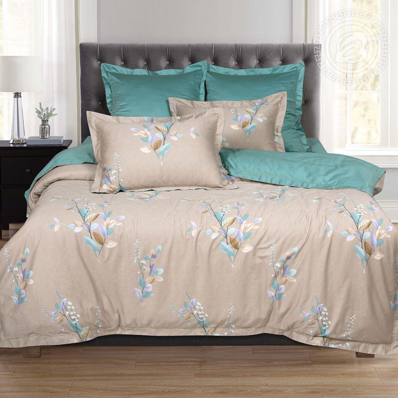 Постельное белье iv71600 (макосатин) (2 спальный с Евро простынёй)