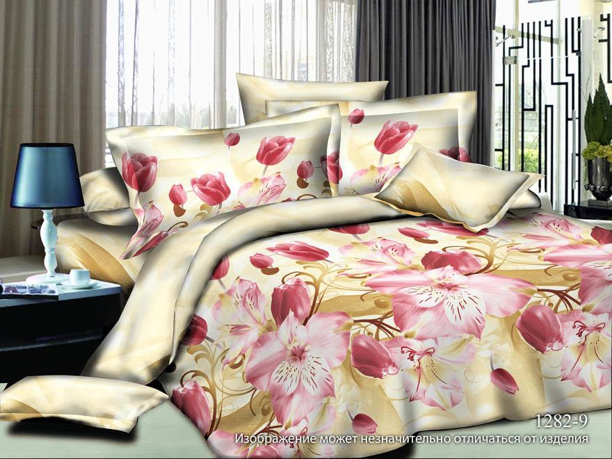 Фото - Постельное белье Тюльпаны (полисатин) (1,5 спальный) постельное белье этель кружева комплект 2 спальный поплин 2670978