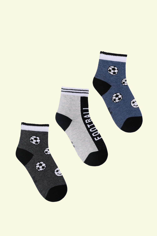 белье acoola носки детские 3 пары цвет ассорти размер 18 20 32214420032 Носки детские Футбол (упаковка 3 пары) (18-20)