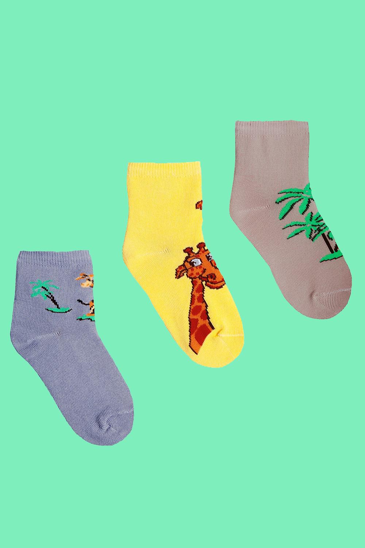 белье acoola носки детские 3 пары цвет ассорти размер 14 16 32224420039 Носки детские Саванна (упаковка 3 пары) (14-16)