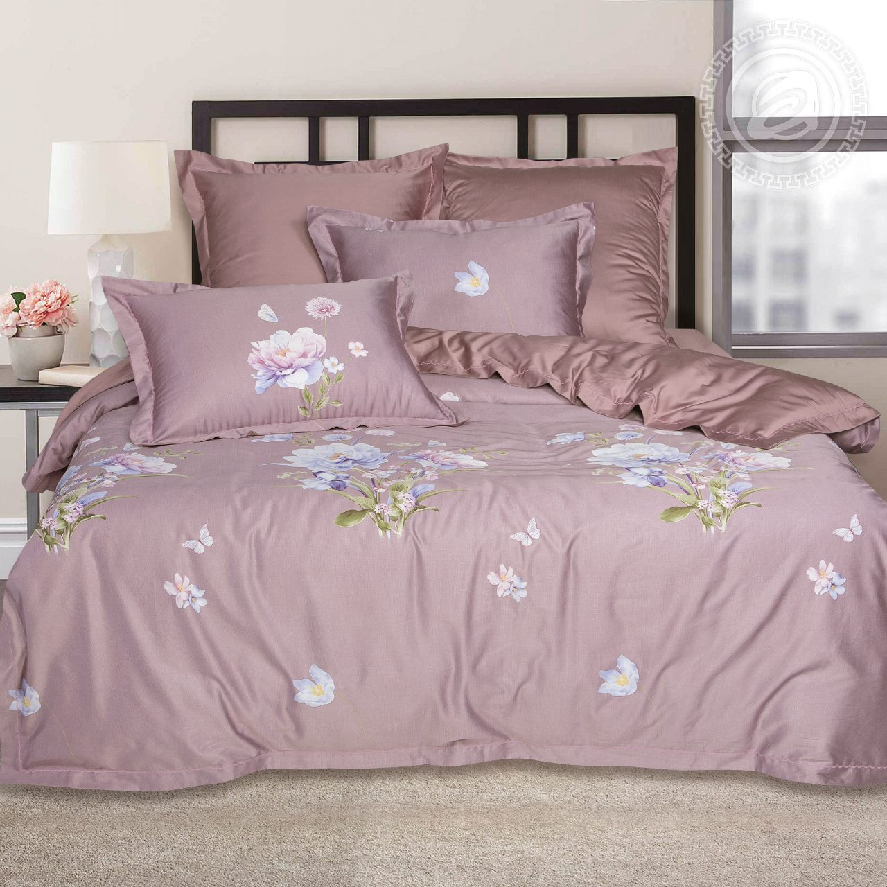 Фото - Постельное белье iv62467 (тенсель) (2 спальный с Евро простынёй) постельное белье евро bellehome bellehome mp002xu02ixb