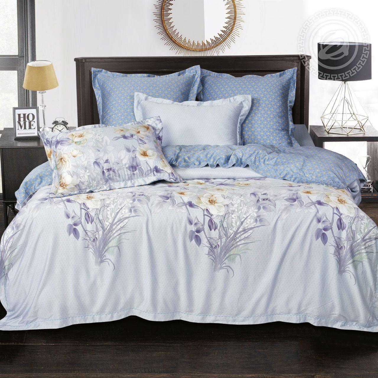 Фото - Постельное белье iv62469 (тенсель) (2 спальный с Евро простынёй) постельное белье евро bellehome bellehome mp002xu02ixb