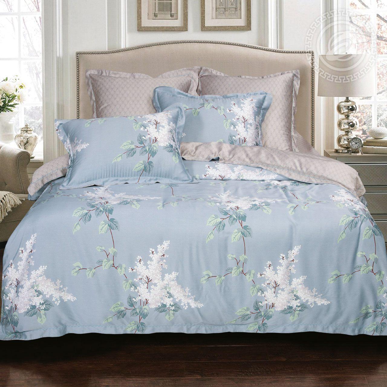 Фото - Постельное белье iv62471 (тенсель) (2 спальный с Евро простынёй) постельное белье евро bellehome bellehome mp002xu02ixb