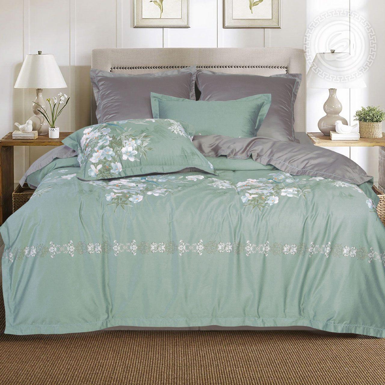 Фото - Постельное белье iv62472 (тенсель) (2 спальный с Евро простынёй) постельное белье евро bellehome bellehome mp002xu02ixb
