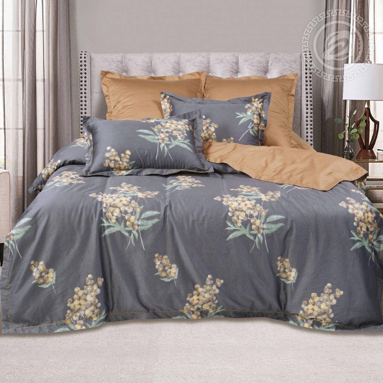 Фото - Постельное белье iv62473 (макосатин) (2 спальный с Евро простынёй) постельное белье евро bellehome bellehome mp002xu02ixb