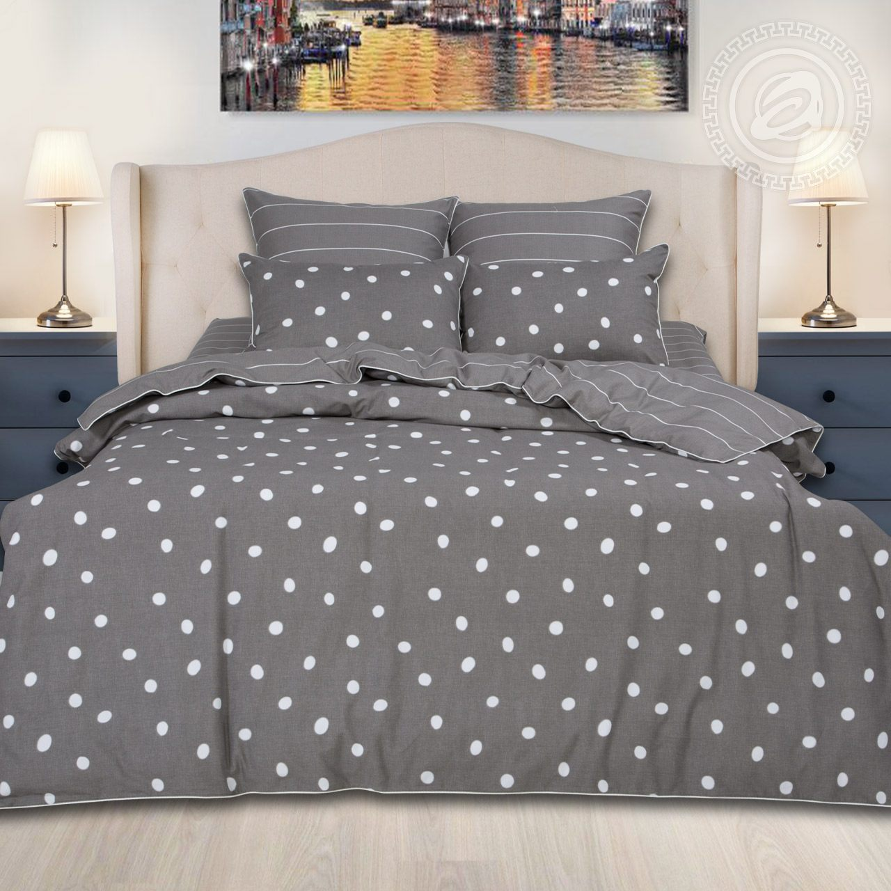 Постельное белье iv62475 (велюр) (2 спальный с Евро простынёй)