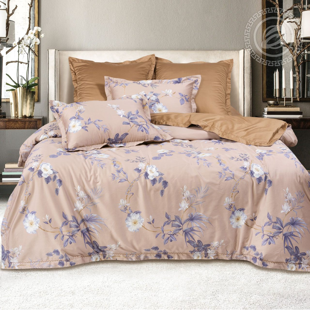 Фото - Постельное белье iv62481 (макосатин) (2 спальный с Евро простынёй) постельное белье евро bellehome bellehome mp002xu02ixb
