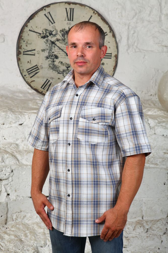 """Рубашка мужская """"Тарас"""" 42"""