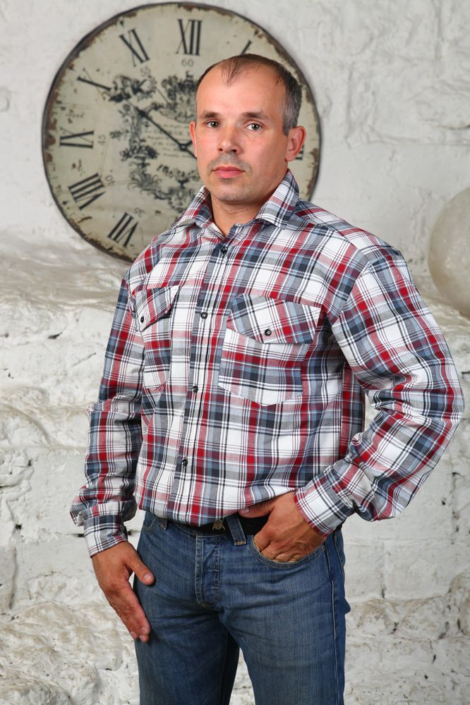 """Рубашка мужская """"Марат"""" 40"""