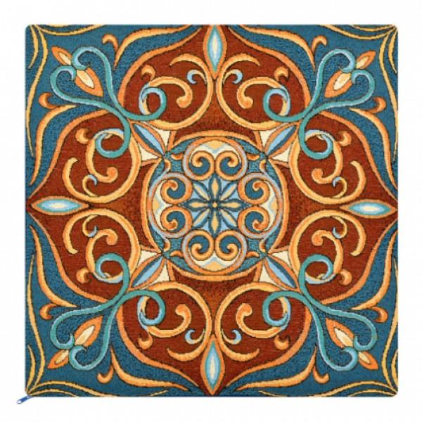 Наволочка декоративная Витражный цветок (50*50)