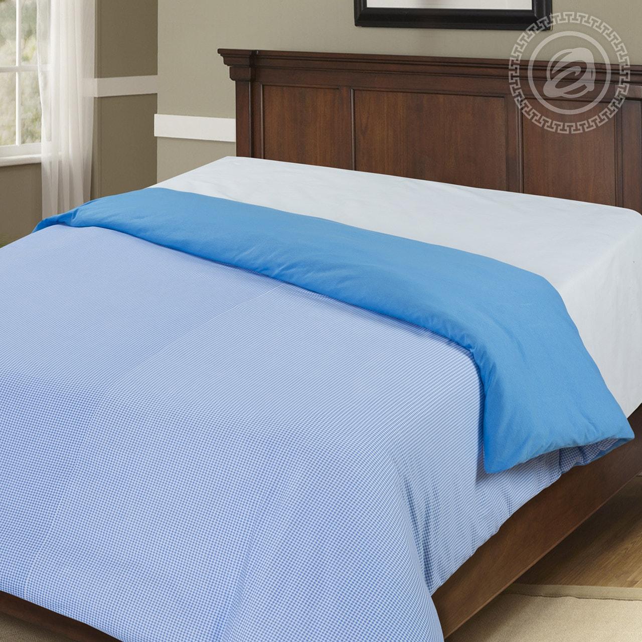 цена на Пододеяльник трикотажный на молнии iv36555 голубой (1.5 спальный (145х215))