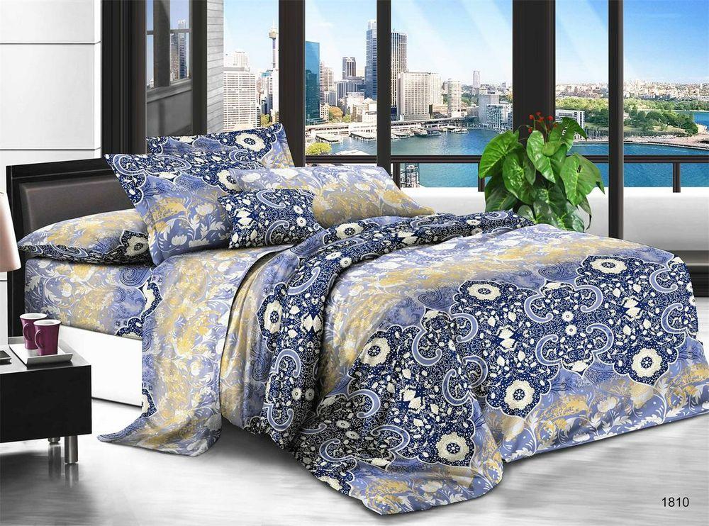 Постельное белье Вечер (полисатин) (Евро-1) постельное белье эго комплект 1 5 спальный полисатин