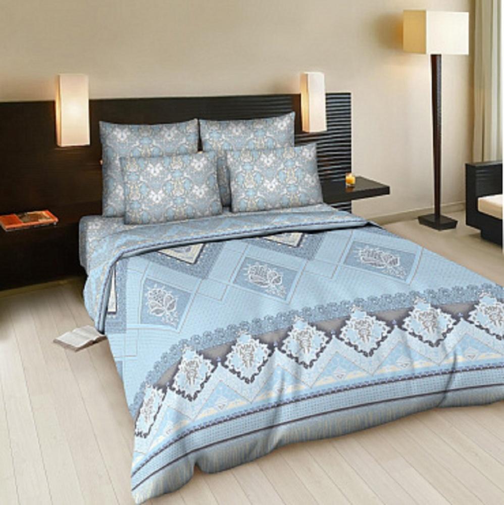 Постельное белье Вологодские кружева голубой (бязь) (1,5 спальный) постельное белье лазурит голубой бязь 1 5 спальный