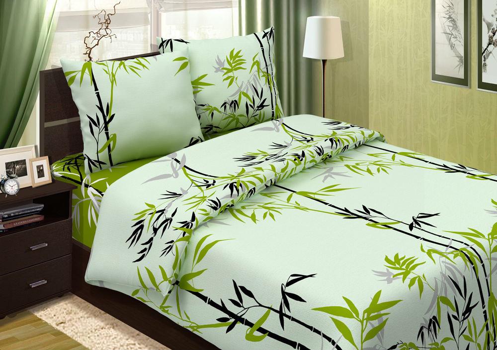 """Постельное белье """"Бамбуковый рай"""" (поплин) 1,5 спальный"""