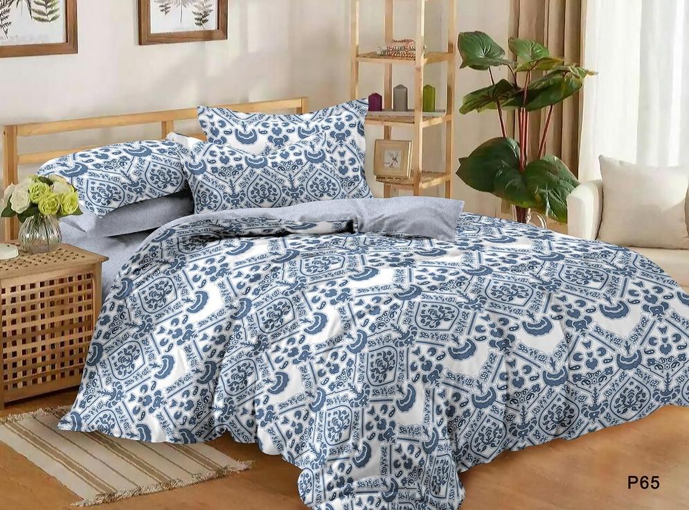 Постельное белье Гжель (поплин) (1,5 спальный) постельное белье ризотто поплин 1 5 спальный