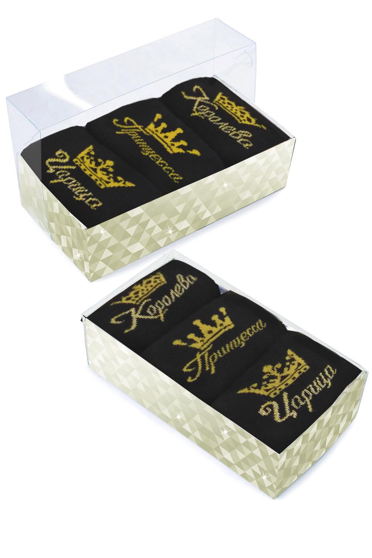 Носки женские Королева (упаковка 3 пары) (23-25) носки женские oodji цвет разноцветный 3 пары 57102602t3 48022 5 размер 35 37
