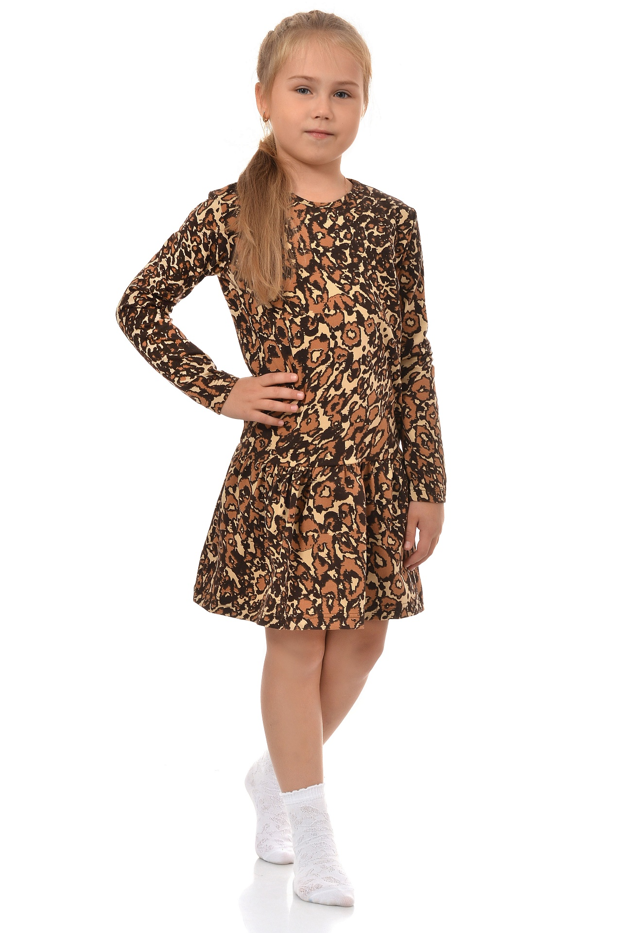 Платье детское Леопард kogankids kogankids платье леопард розовое