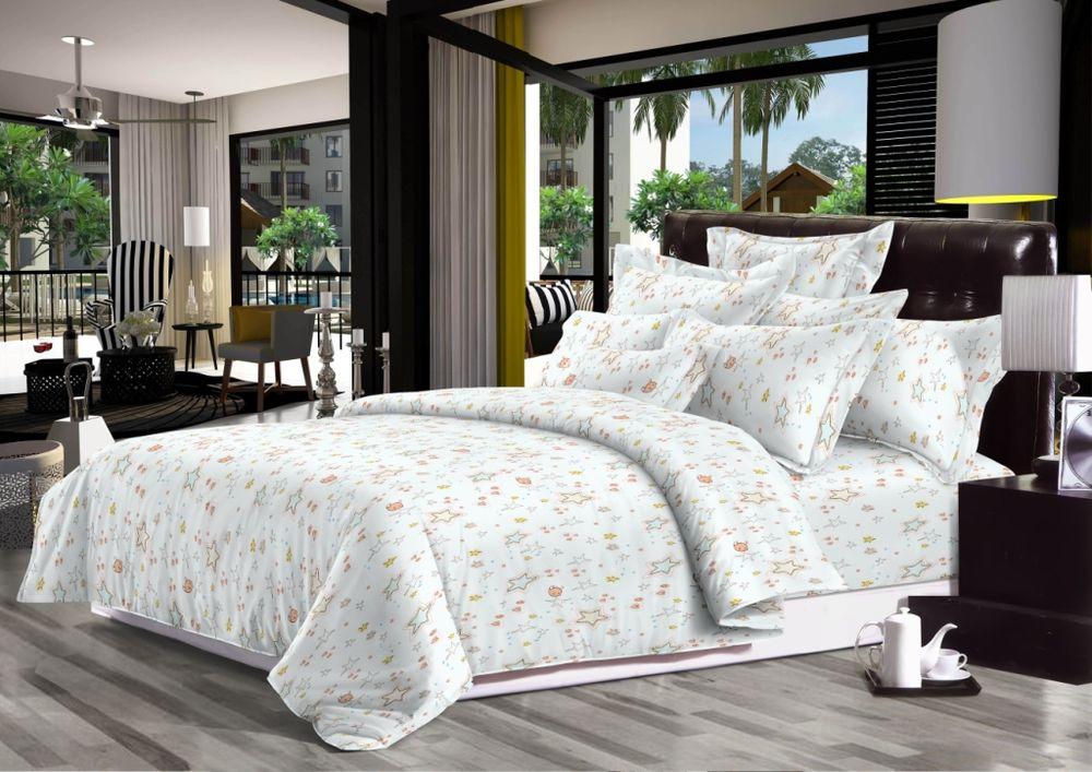 Постельное белье Космическое путешествие (сатин) (1,5 спальный) постельное белье cleo кпб сатин набивной люкс дизайн 406 1 5 спальный