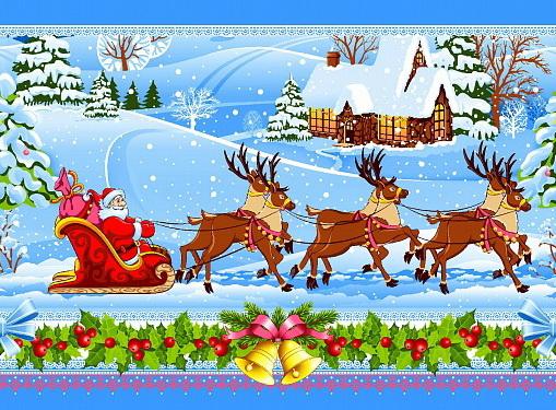 Полотенце кухонное Дедушка Мороз (50х60) полотенце кухонное рыжик 50х60