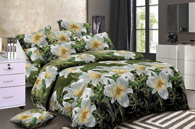 Постельное белье Розали 5D (полисатин) (1,5 спальный) постельное белье эго комплект 1 5 спальный полисатин