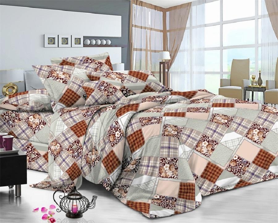 Постельное белье Гламур (поплин) (Евро-1) постельное белье евро гламур сирень постельное белье евро гламур