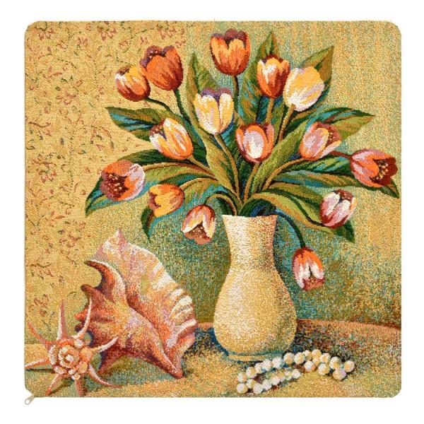 Наволочка декоративная Тюльпаны в вазе (50*50) наволочка декоративная рококо 50 50