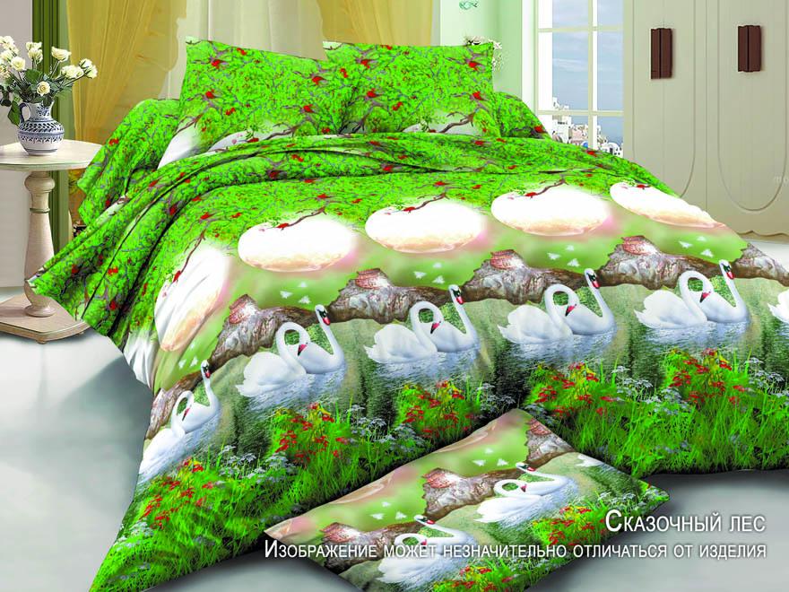 Постельное белье Сказочный лес 5D (полисатин) (1,5 спальный) постельное белье cleo кпб полисатин 246 1 5 спальный