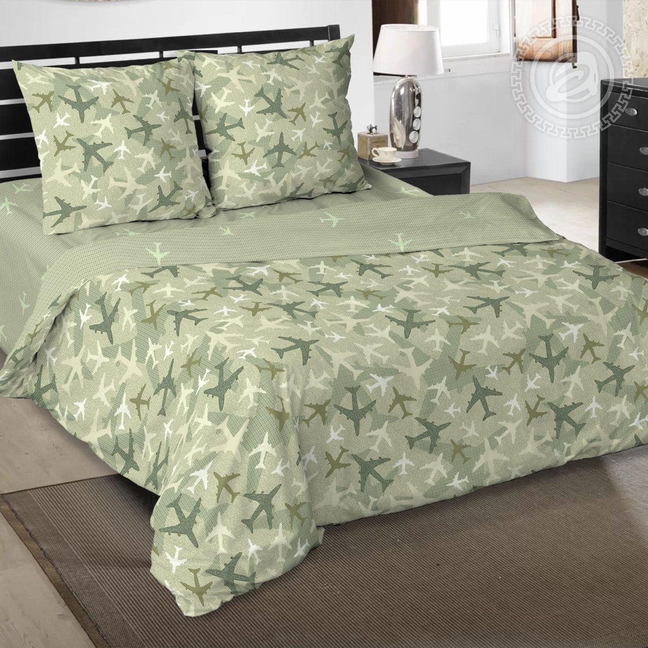 Фото - Постельное белье Самолетик (поплин) (1,5 спальный) постельное белье этель кружева комплект 2 спальный поплин 2670978