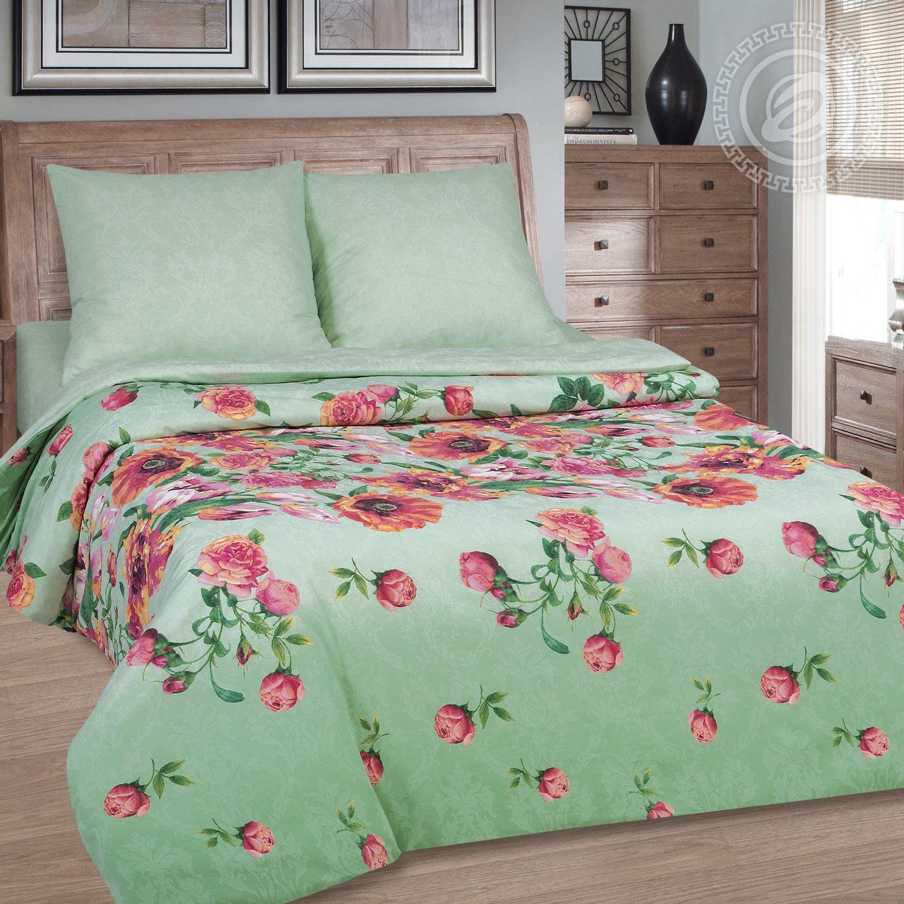 """Постельное белье """"Флорес"""" (поплин) (1,5 спальный) постельное белье экзотика 555 комплект 2 спальный поплин"""