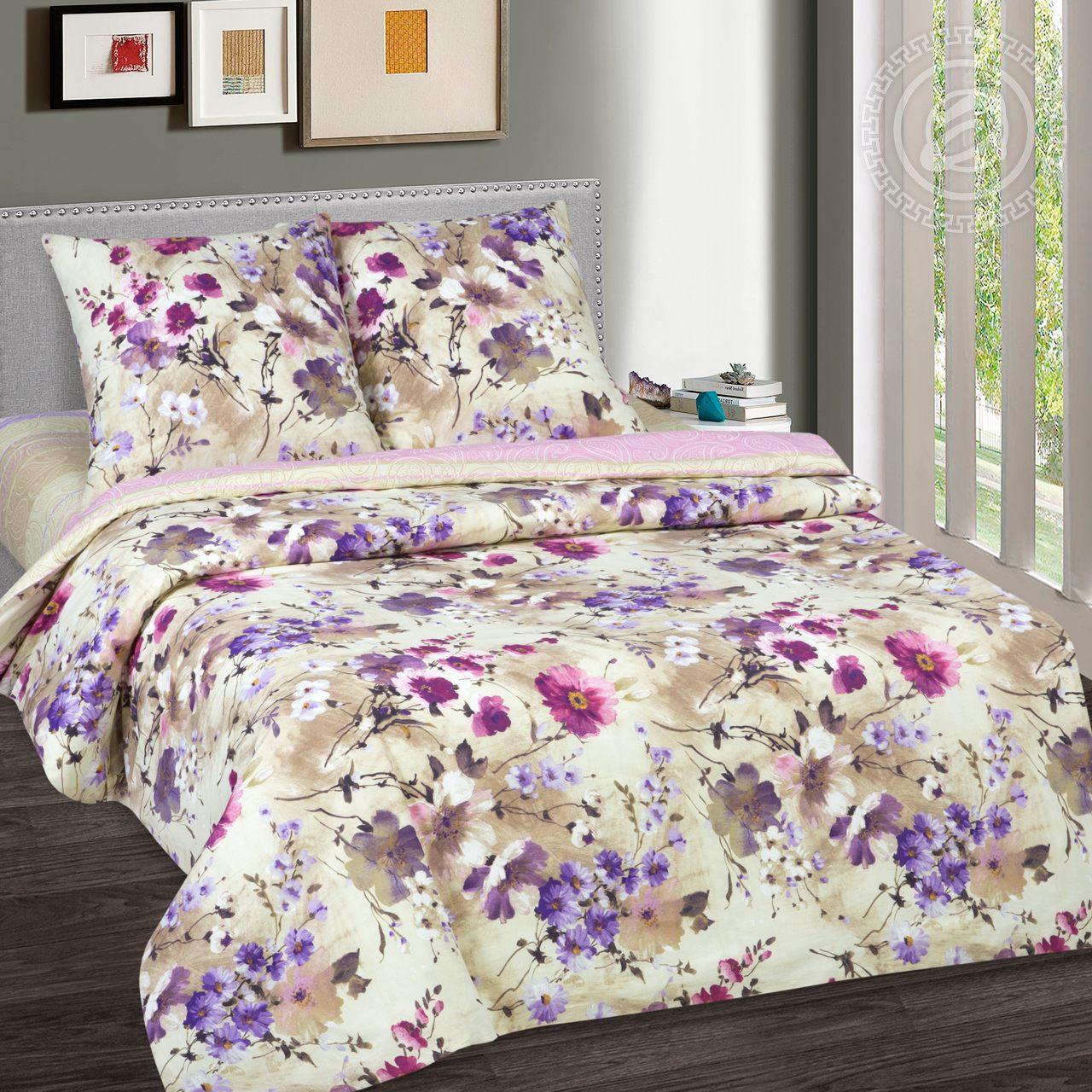 Постельное белье Памела (поплин) (1,5 спальный) постельное белье аманда лен 1 5 спальный