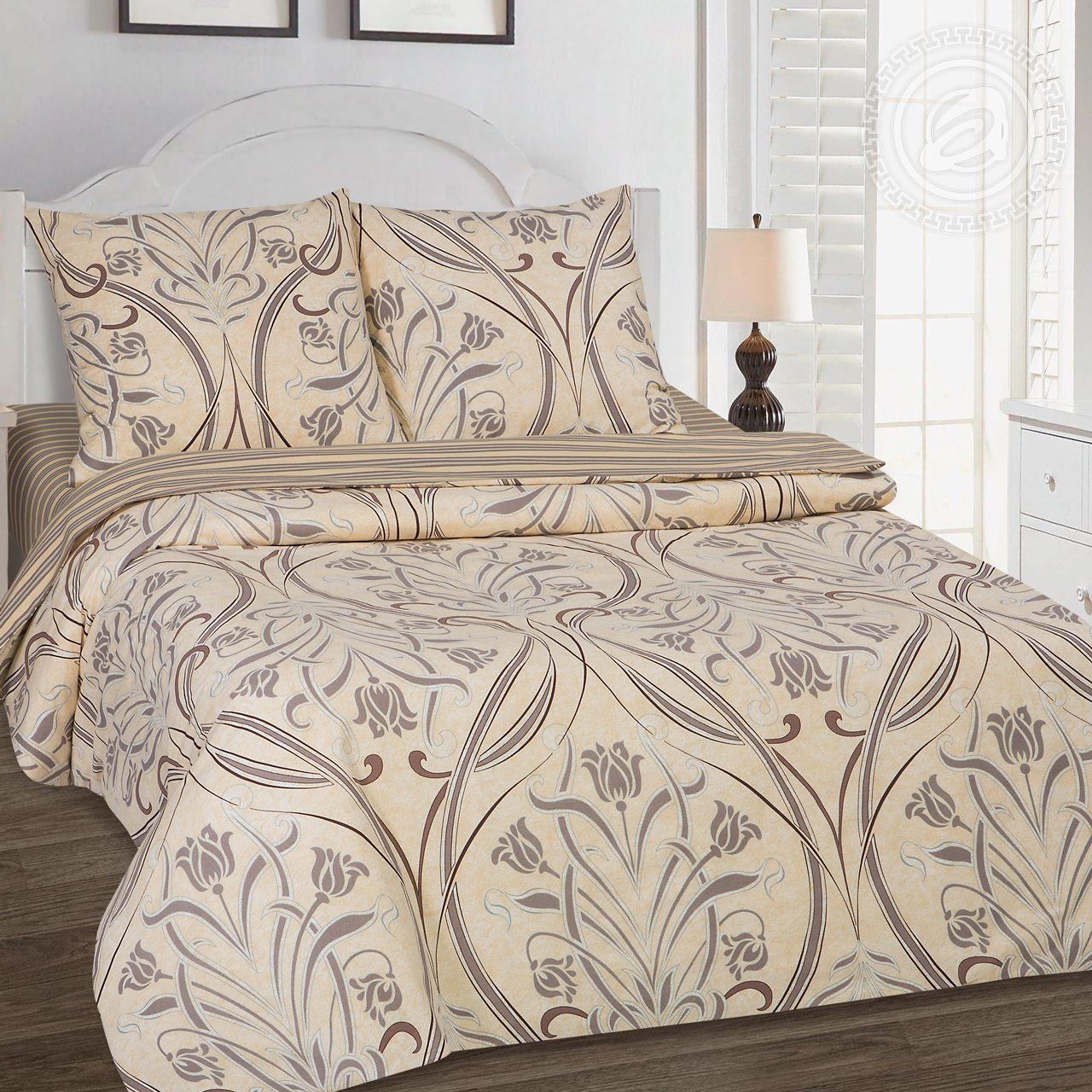Постельное белье Варьете (поплин) (1,5 спальный) постельное белье ризотто поплин 1 5 спальный