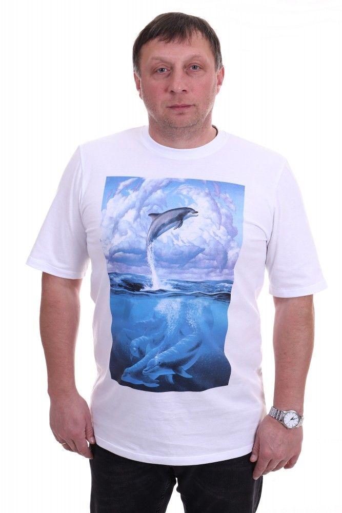 """Футболка мужская """"Дельфин"""" 50"""