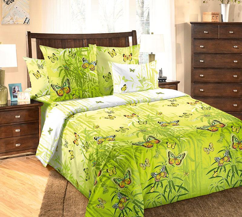 """Постельное белье """"Гармония"""" зеленый (бязь) 2 спальный"""