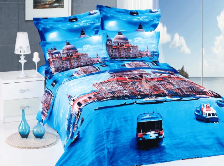 Постельное белье Венеция 3D (сатин) (Евро-1) постельное белье diva afrodita premium 3d pr 279 двуспальное