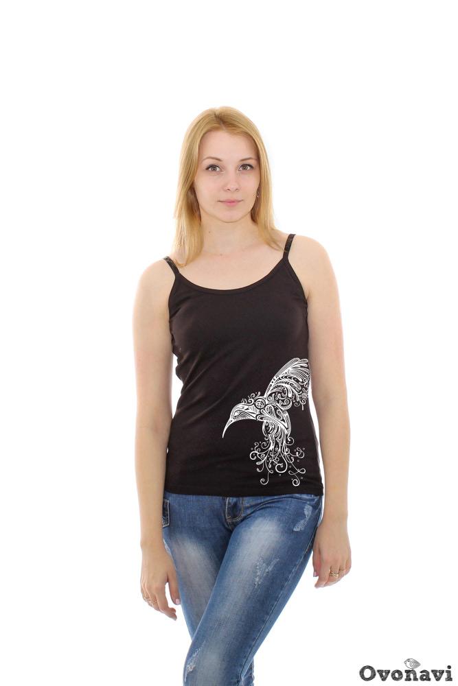Майка женская Помпея (принт: колибри) футболка женская калина принт колибри