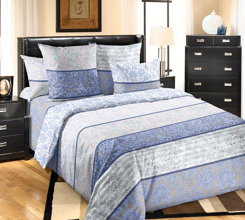 Постельное белье Узоры серый (перкаль) (2 спальный) постельное белье альба перкаль 2 спальный