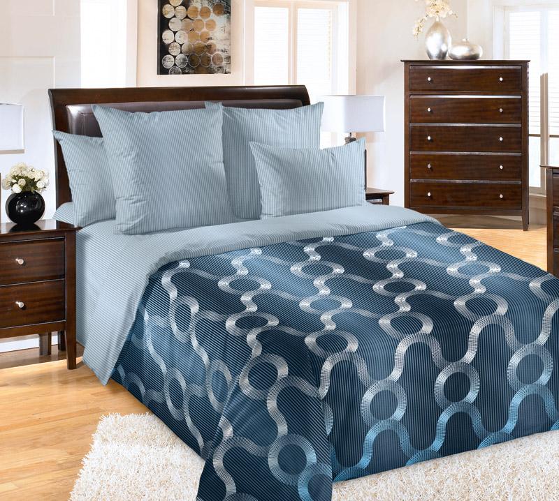 Постельное белье Мистраль (перкаль) (1,5 спальный) постельное белье унисон россини 15375 1 15376 1 комплект 2 спальный перкаль 450154