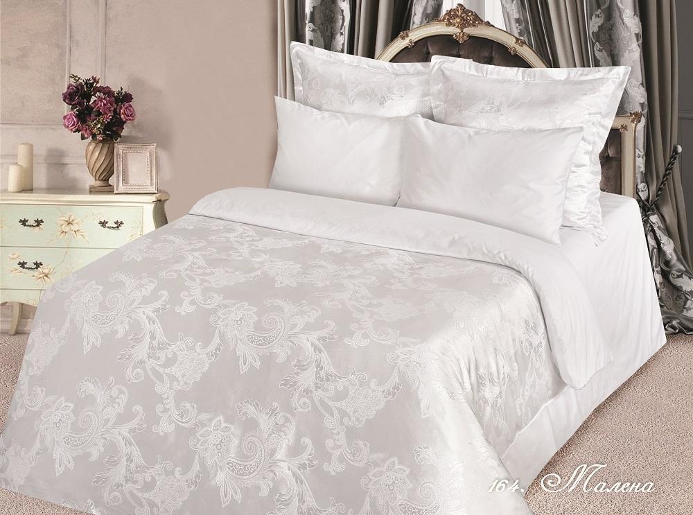 Постельное белье iv50622 (сатин-жаккард) 2 спальный с Евро простынёй