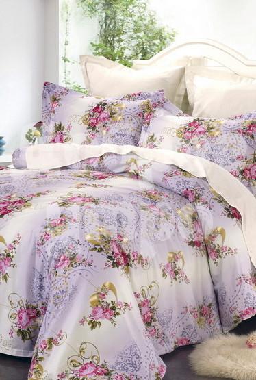 Постельное белье Maкарим (сатин) (1,5 спальный) постельное белье cleo кпб сатин набивной люкс дизайн 315 1 5 спальный