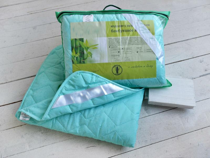 """Одеяло облегченное """"Зимний сон"""" (бамбук, сатин) 2 спальный (172*205)"""