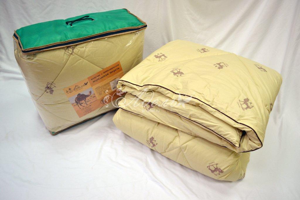 """Одеяло Верблюжья шерсть зима (стандарт, тик) (1,5 спальный (140*205)) одеяло зимнее """"сафари"""" верблюжья шерсть тик 1 5 спальный 140 205"""