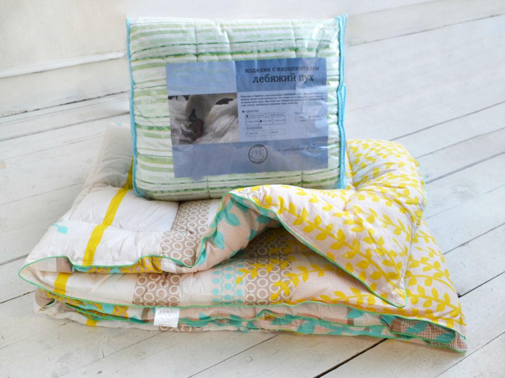 Одеяло зимнее Тишина (лебяжий пух, поплин) (1,5 спальный (140*205))