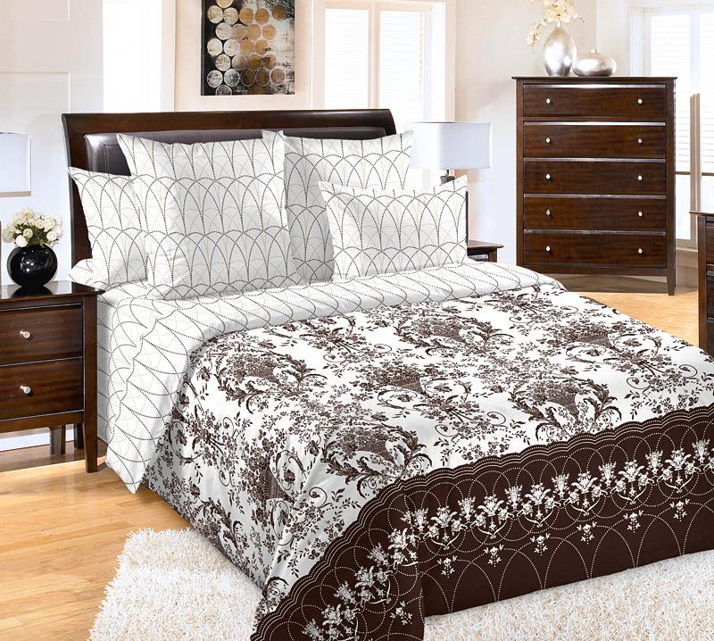 Постельное белье Классик (перкаль) (1,5 спальный) постельное белье унисон россини 15375 1 15376 1 комплект 2 спальный перкаль 450154
